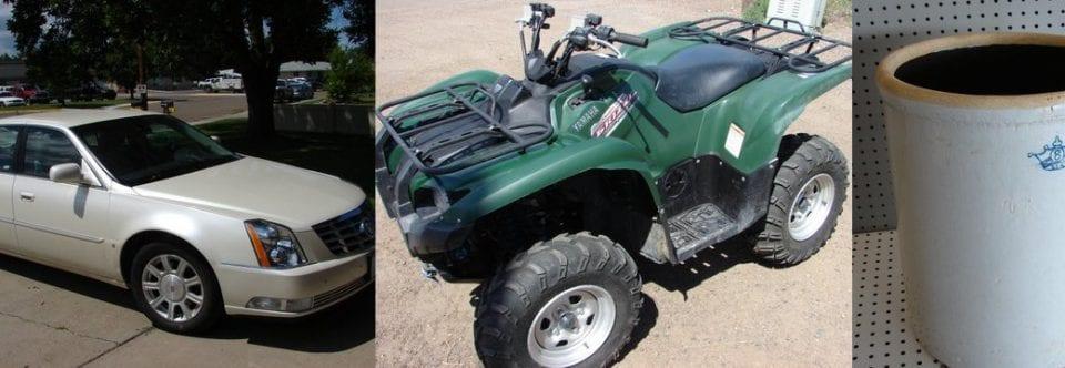 Car, ATV, & Office Auction (7.24.16)